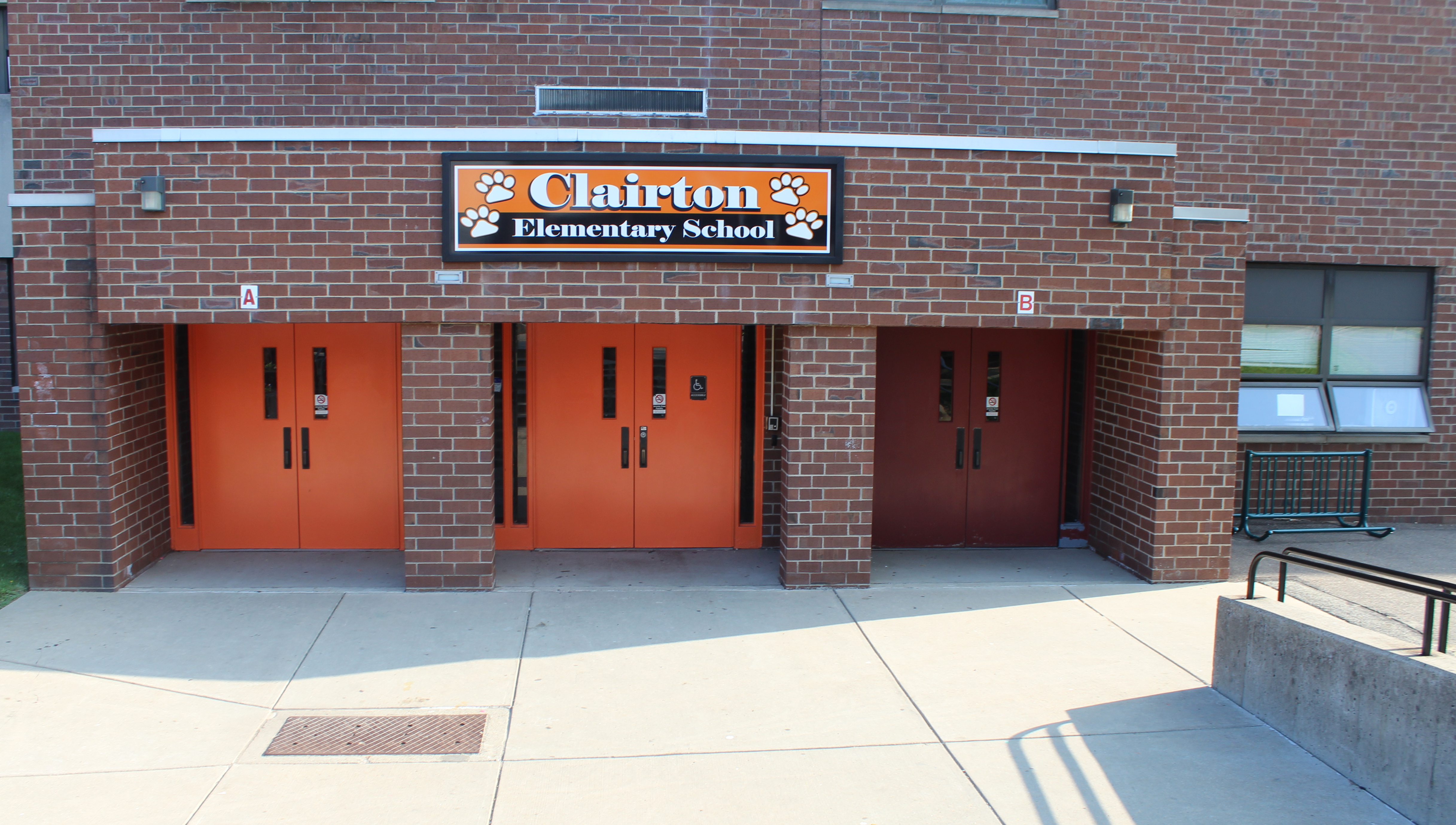 Clairton Elementary School Entrance