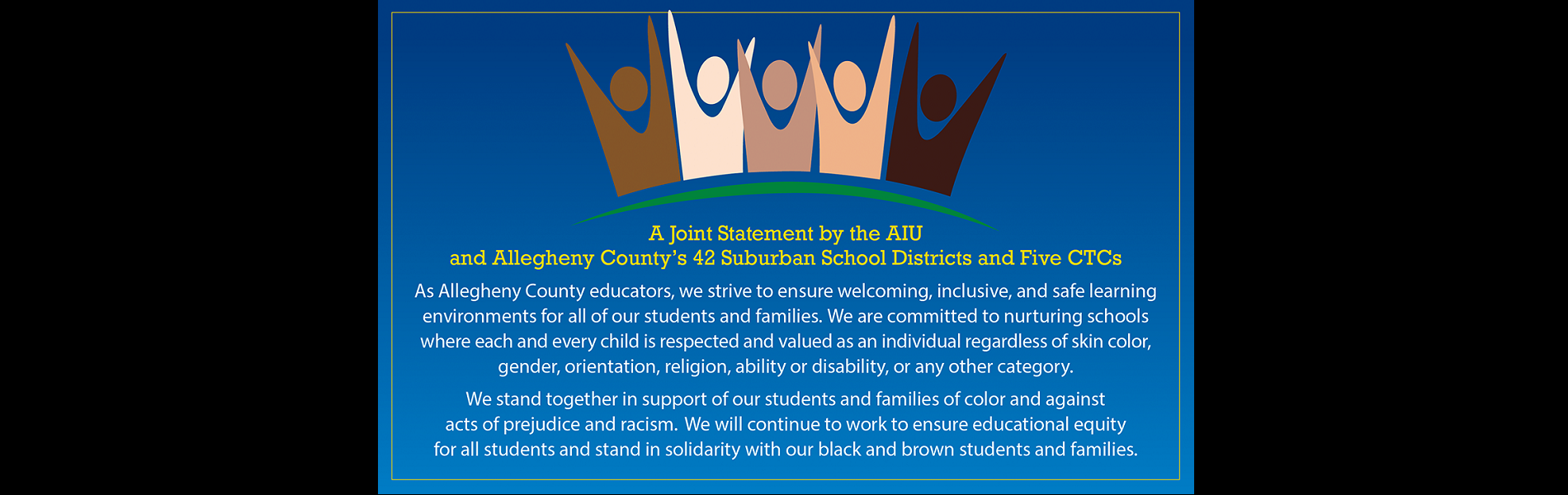 Join Statement by the AIU and Allegheny County's 42 Suburban School Districts and Five CTCs